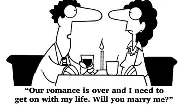 Our romance is over and I need to get on with my life. Will you marry me