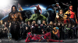 All New Marvel and DC movies, releases 2018 and 2019